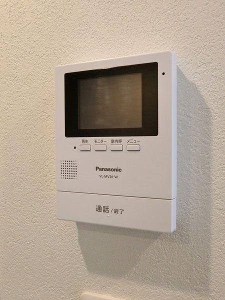 来訪者の顔が見えて安心のTVモニター付きインターホン