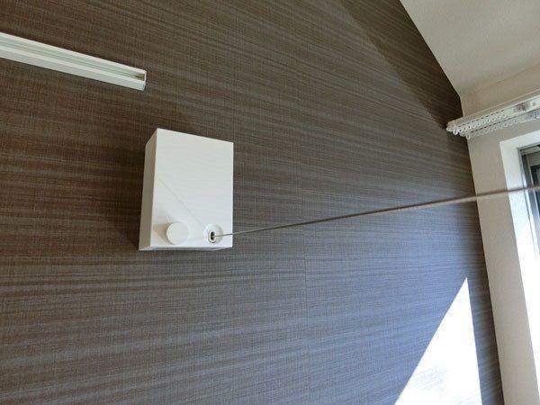 洗濯物が室内で干せる室内物干しワイヤー
