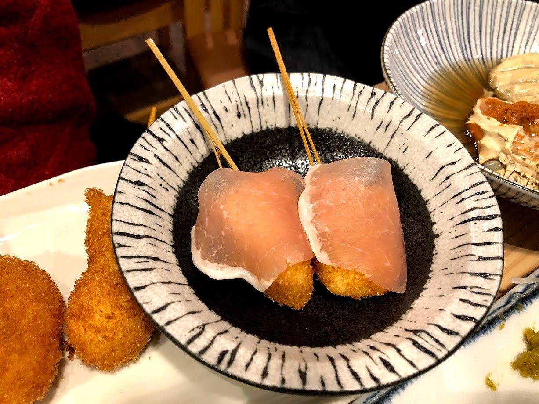 串揚げ カマンベールと生ハム 280円