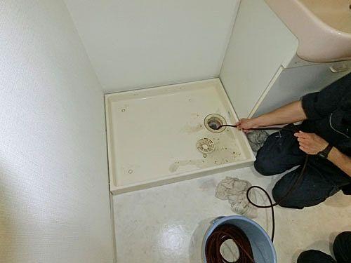洗濯防水パンの排水口の洗浄