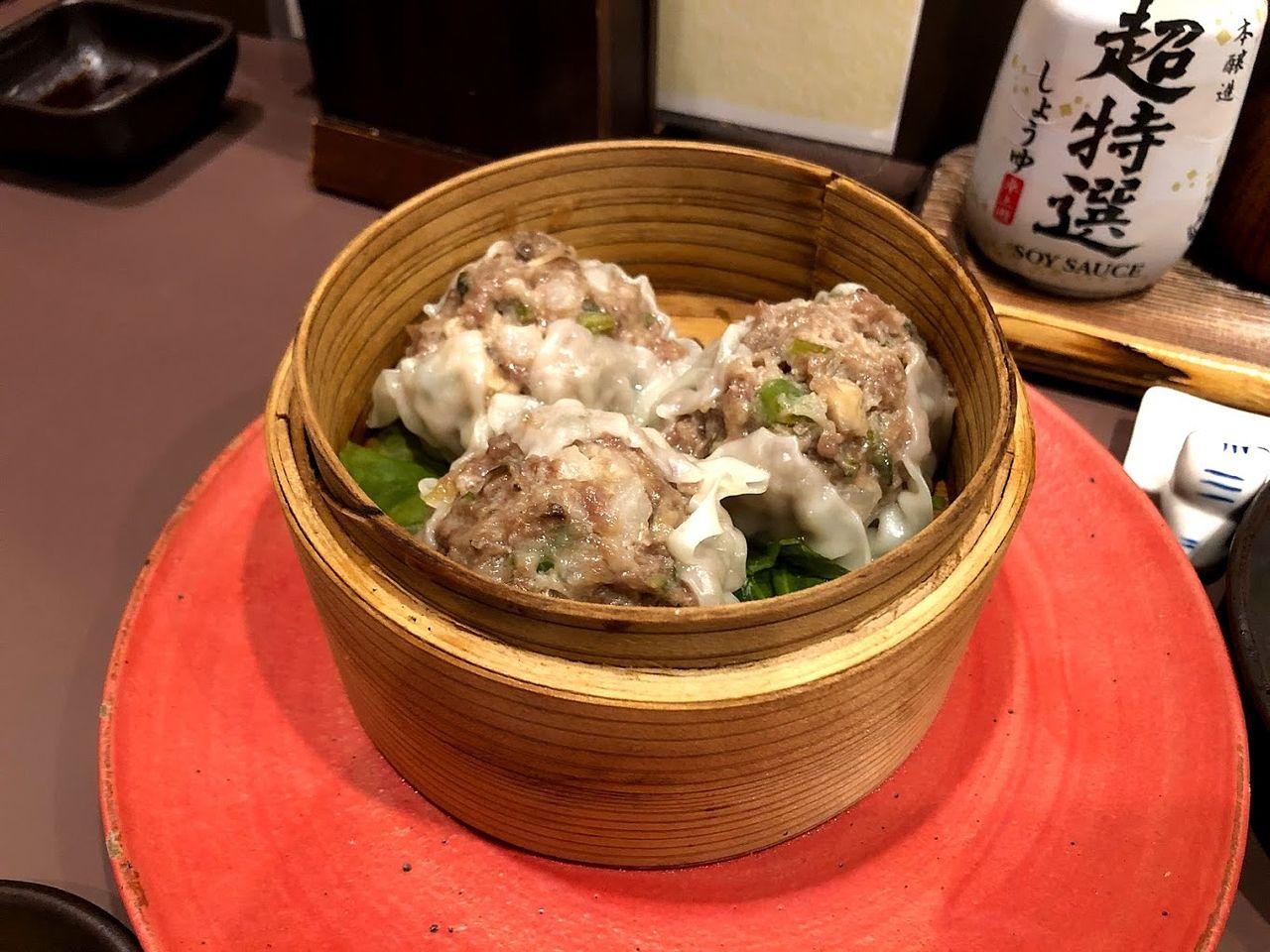 イノシシ肉のシューマイ