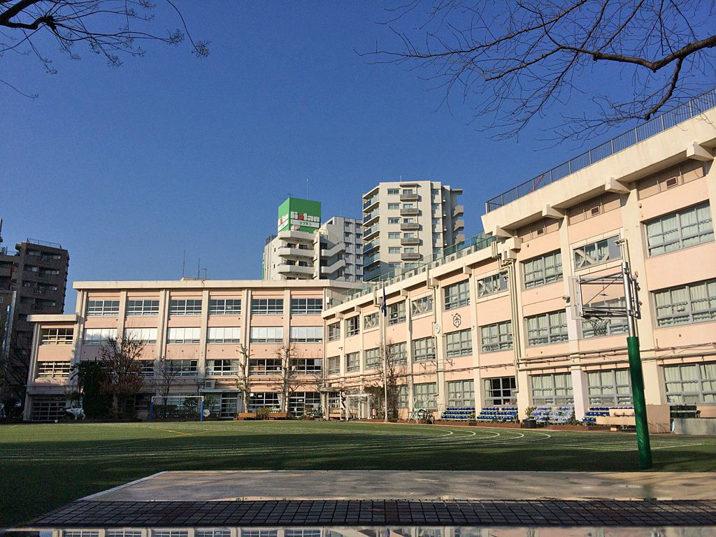 学区内の板橋第六小学校