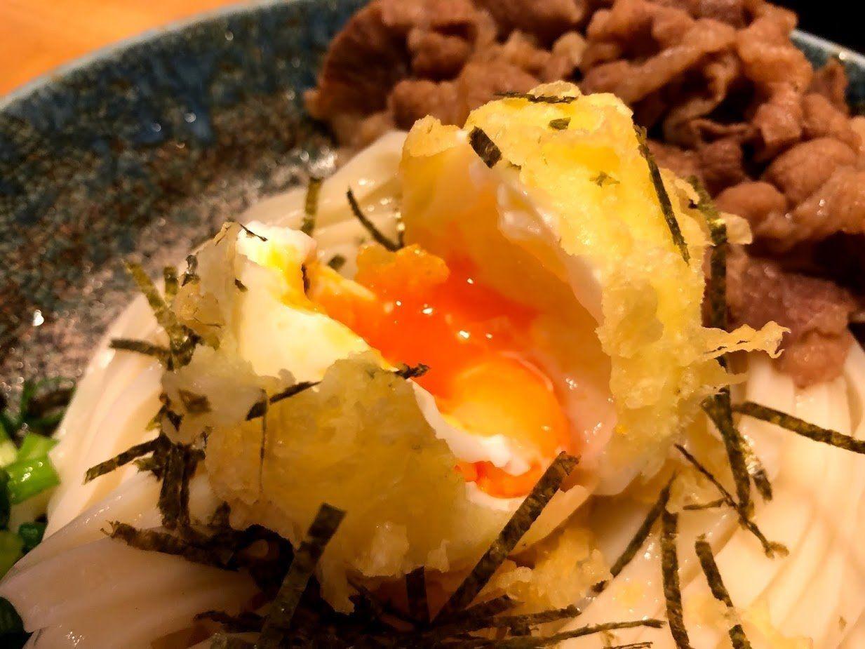 温泉卵の天ぷらでした!