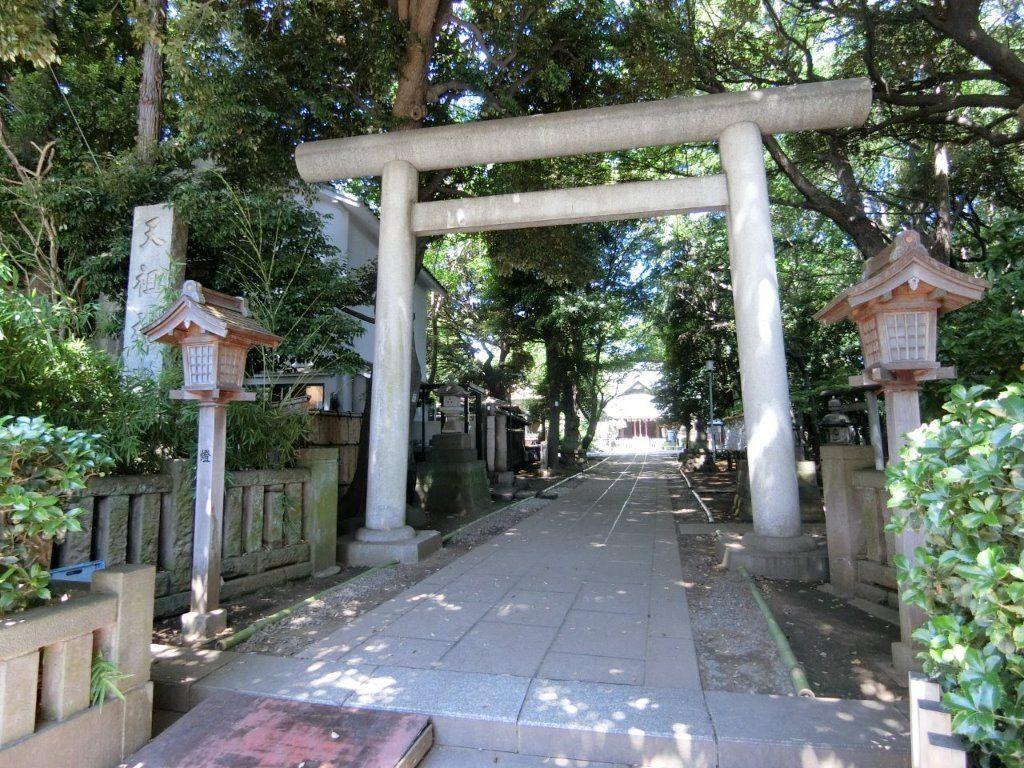 天祖神社(ときわ台)の東側鳥居