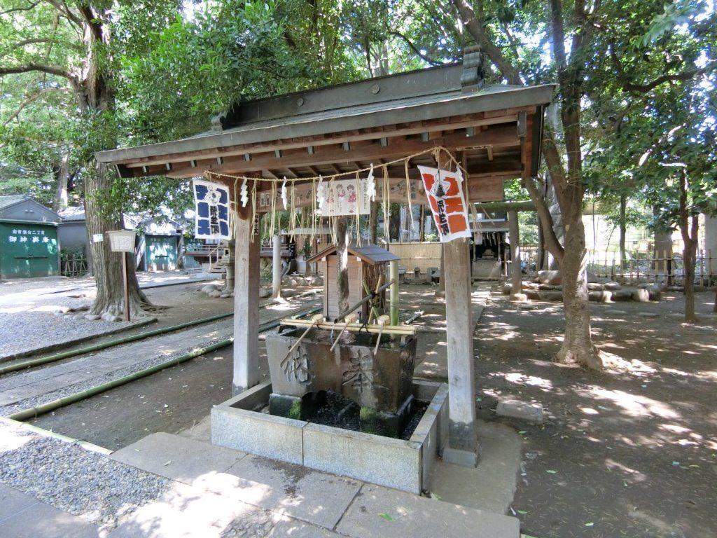 天祖神社(ときわ台)の手水舎