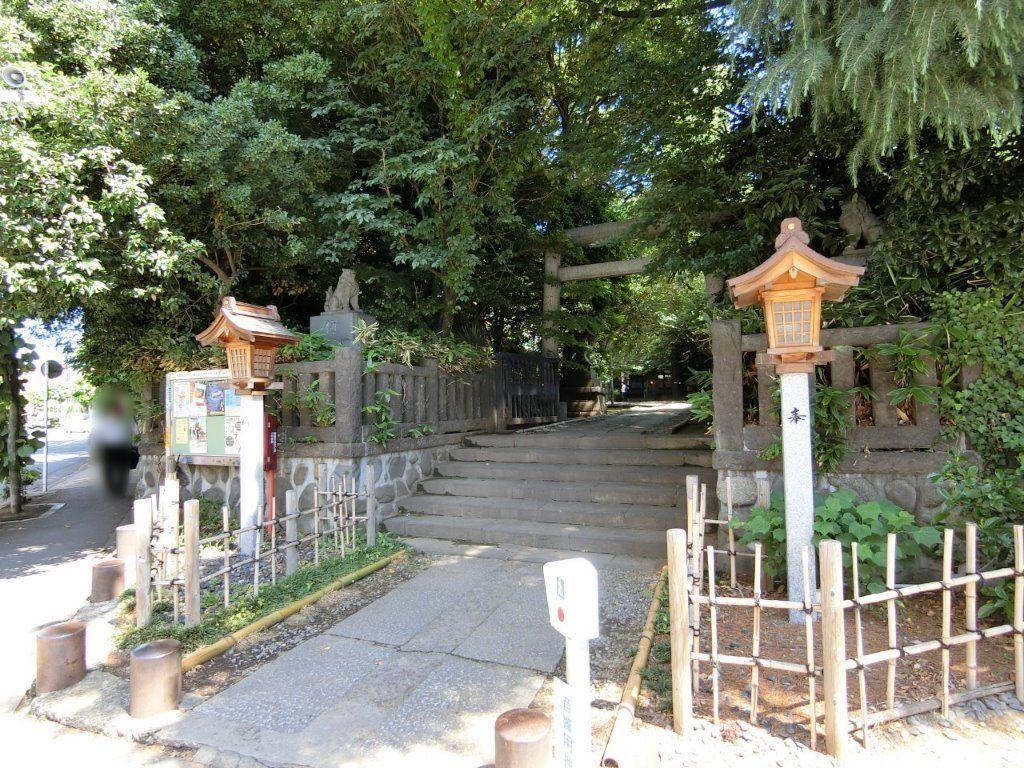 天祖神社(ときわ台)の南側鳥居