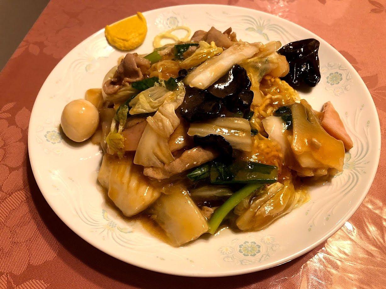 五目うま煮かけ焼き麺 650円