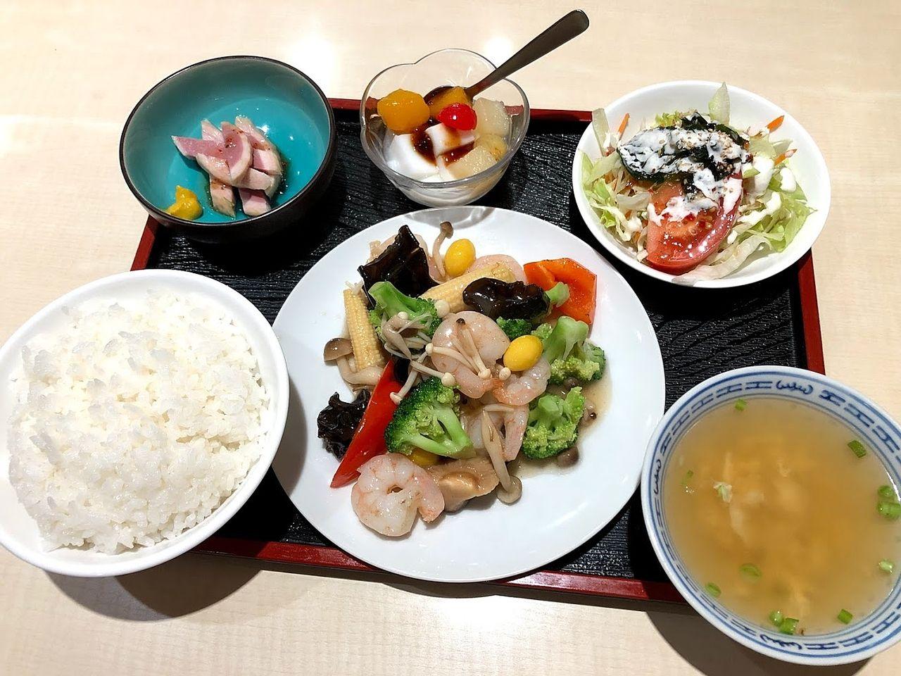 今週の定食 えびうま煮 1,080円