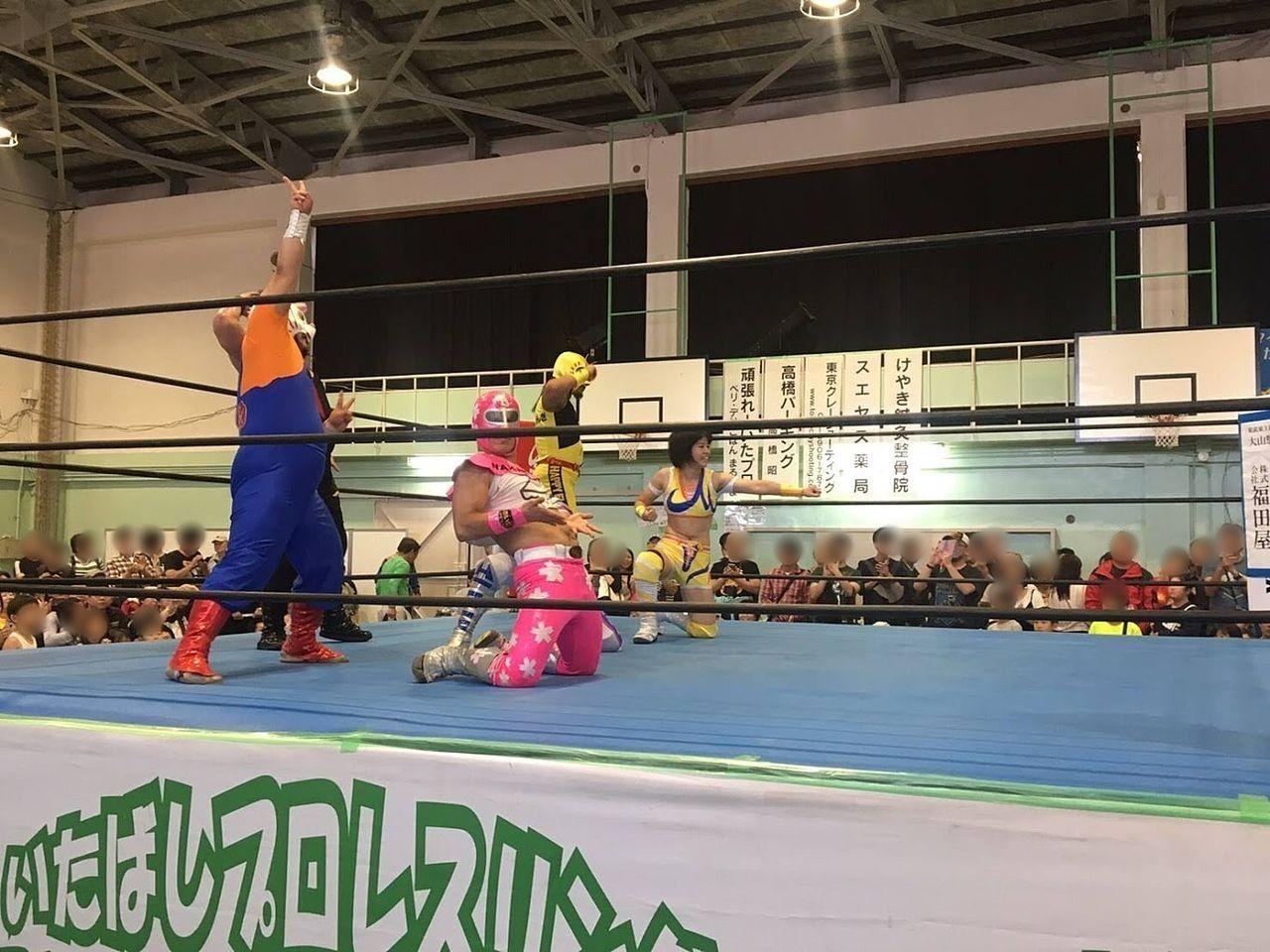 いたばしプロレスリング(板橋第一中学校体育館)