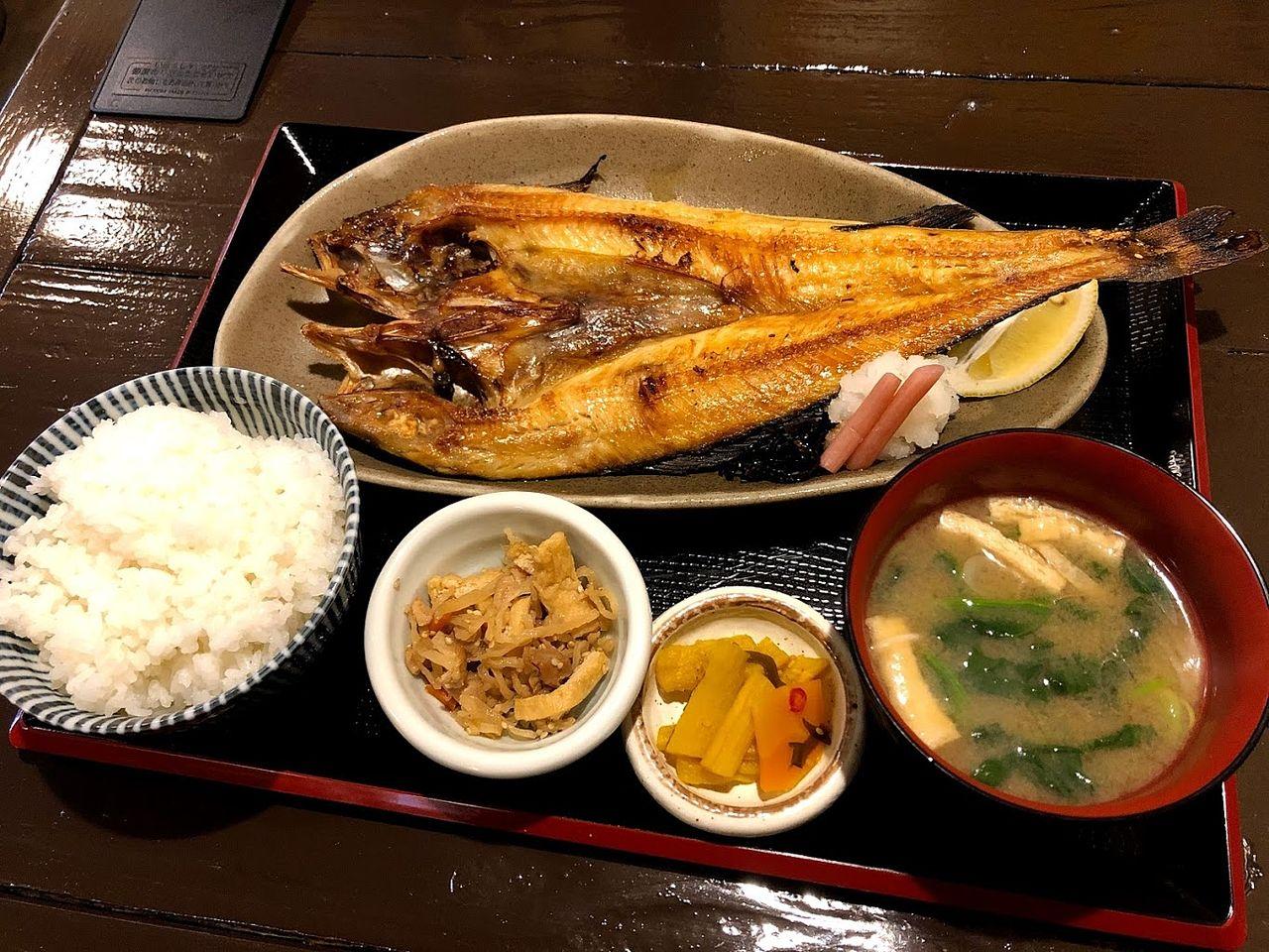 大ほっけ定食 1,080円(税別)