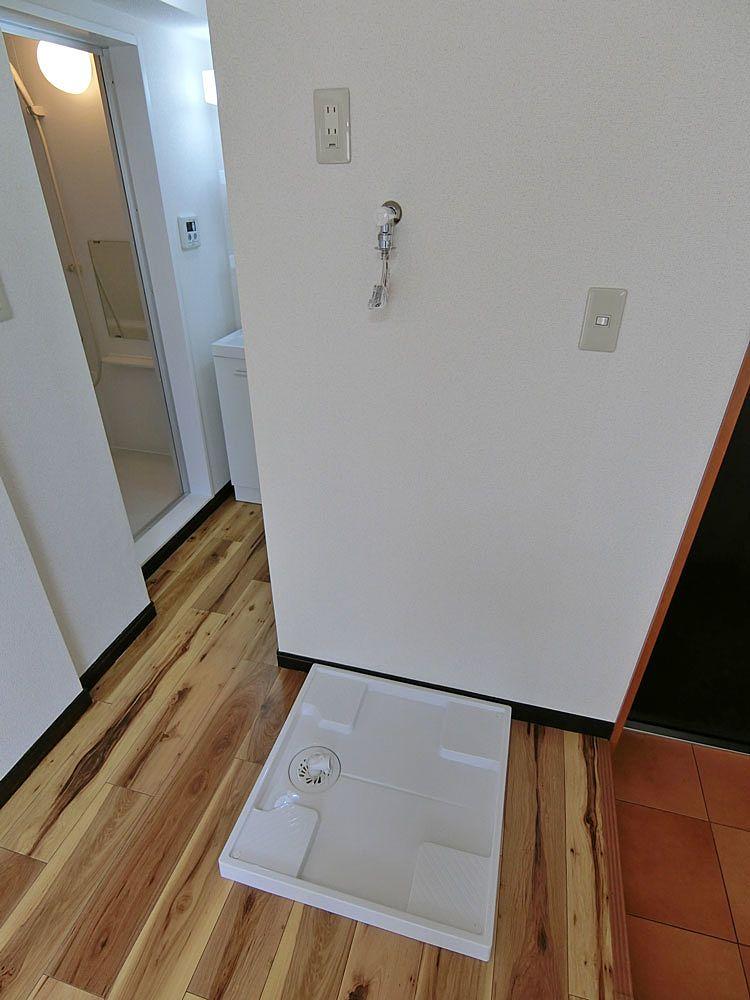 移設後の洗濯機置場