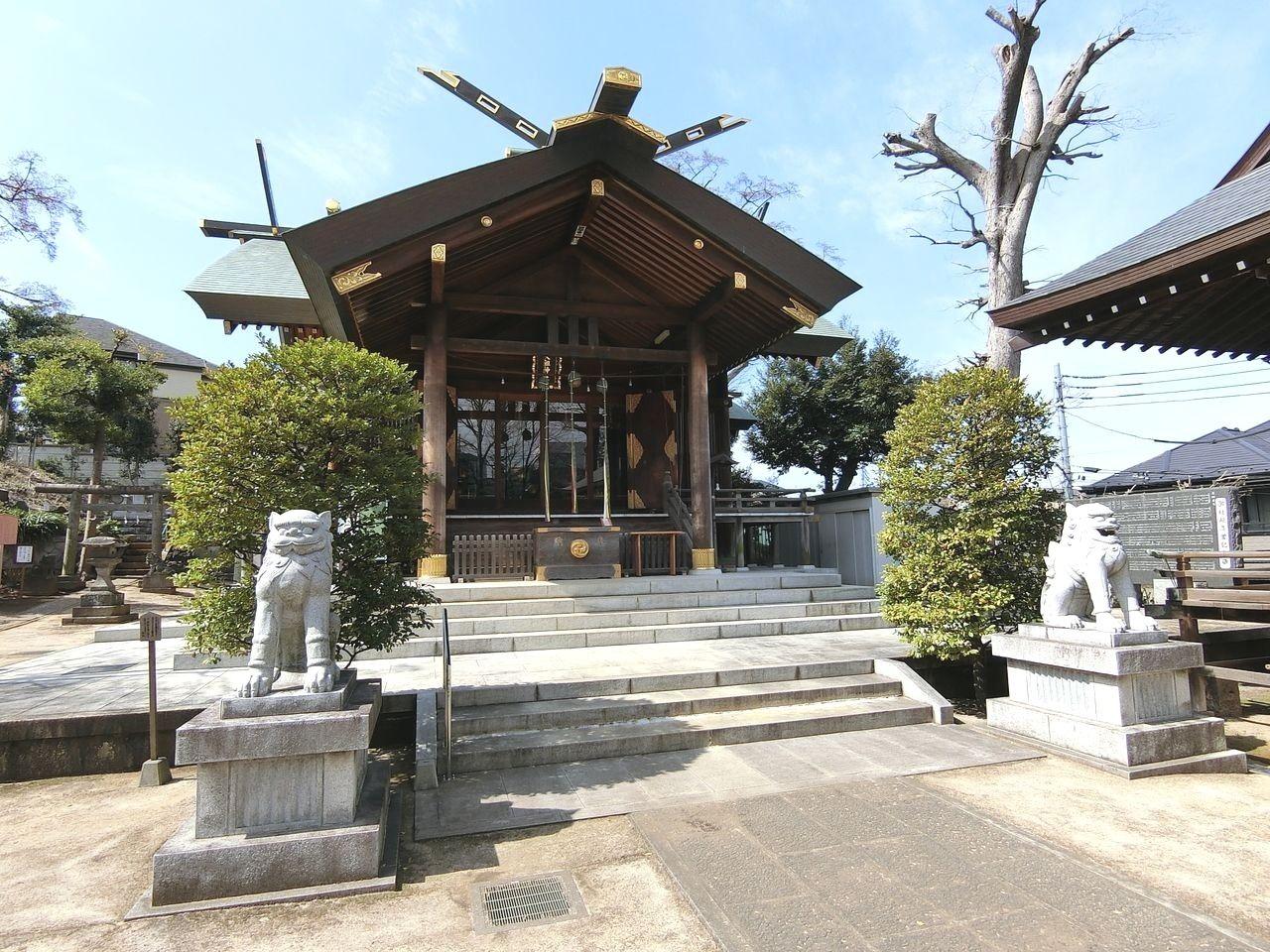 西台天祖神社の拝殿