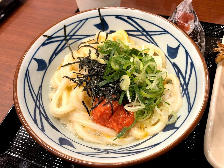 明太釜玉うどん(並) 440円