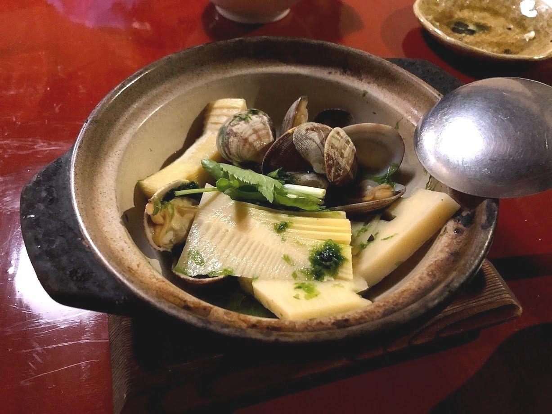 タケノコとアサリの酒蒸し