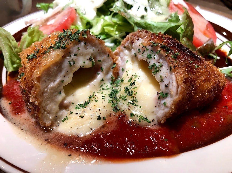 コルドンブルー(生ハムとチーズの鶏の包み揚げ)