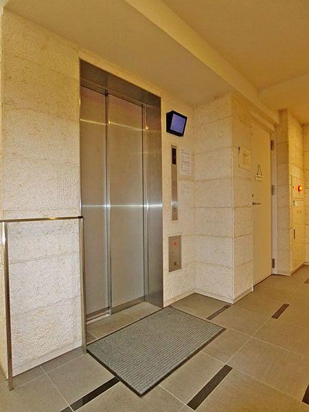 エレベーター内が見えて安心♪モニター付きエレベーターホール