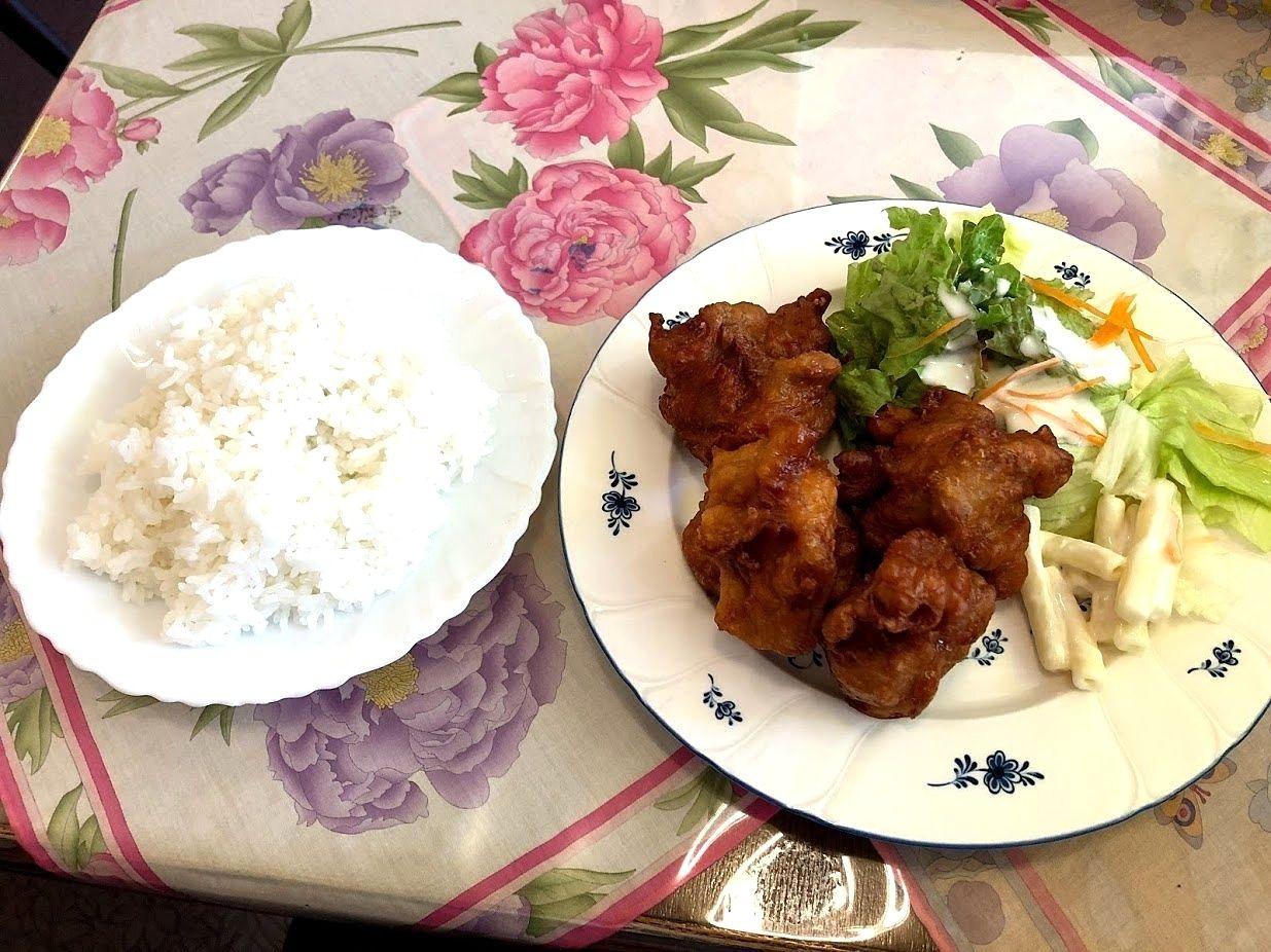 板橋本町の喫茶エレファントの鶏の唐揚げ