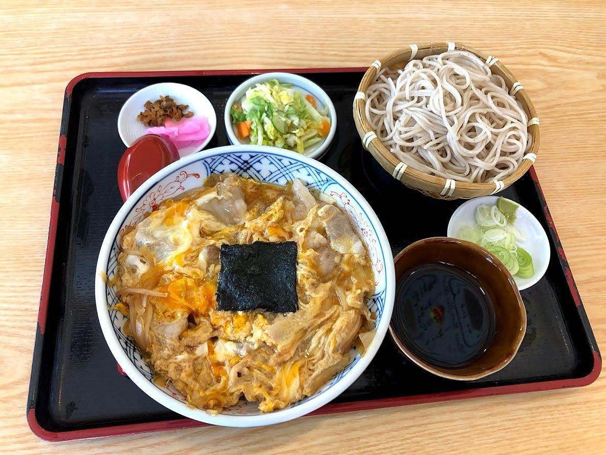 開花丼と蕎麦セット