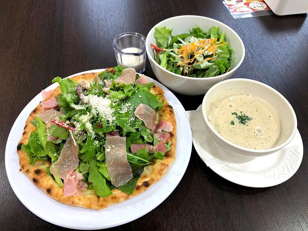 板橋福祉工場サラダピザ 750円