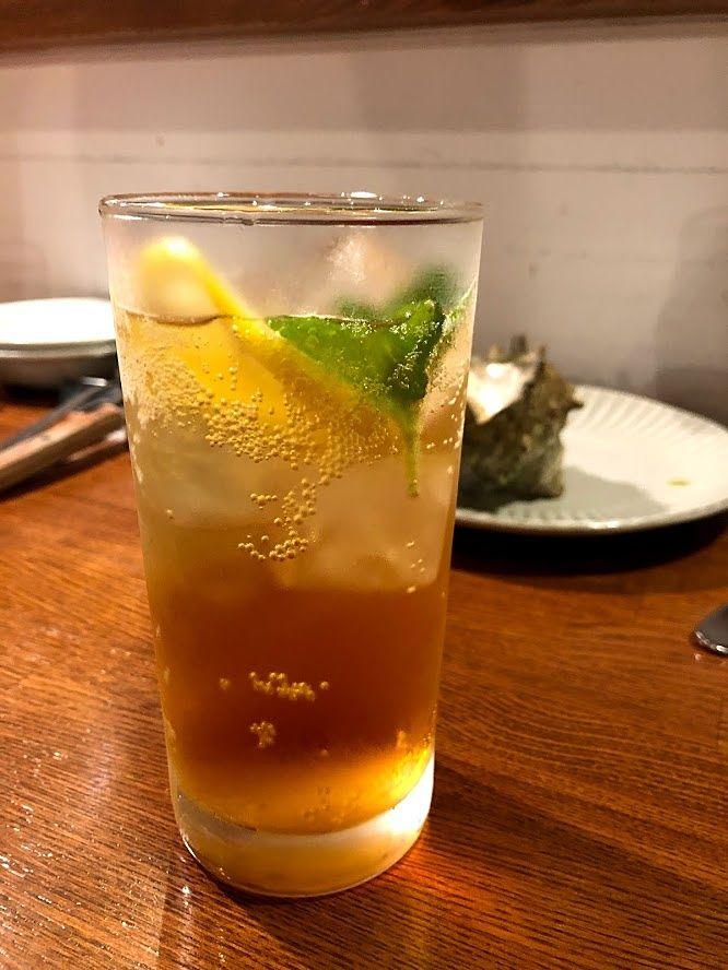 ティーソーダ(アールグレーのリキュール+ソーダ)