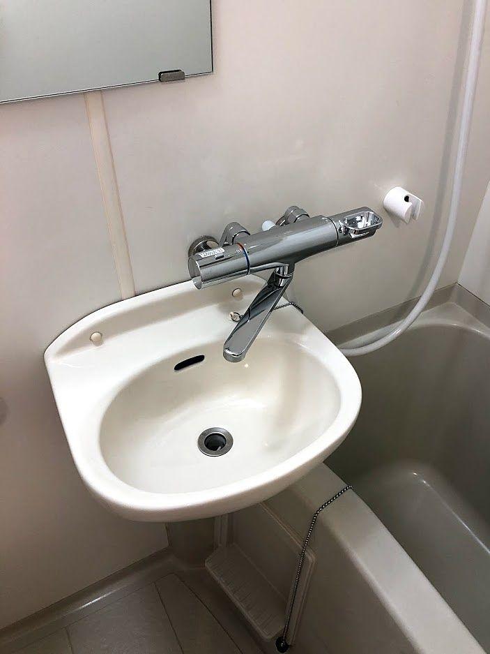 サーモスタット混合水栓に交換後