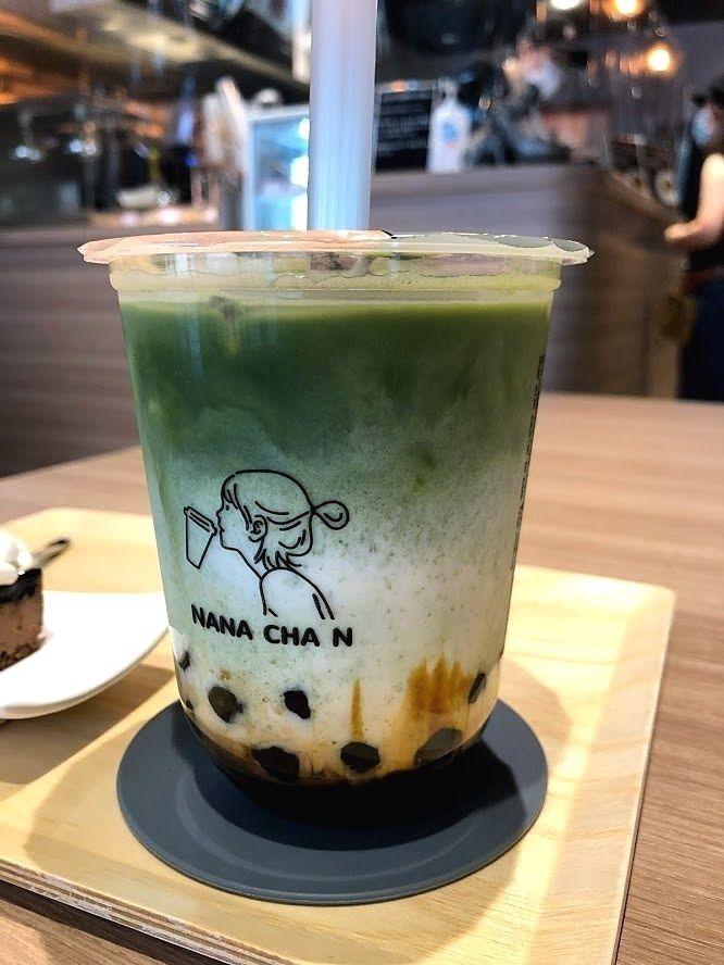 黒糖宇治抹茶タピオカミルク 590円