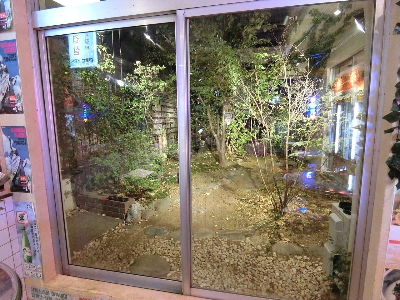 韓国食堂ケグリの中庭