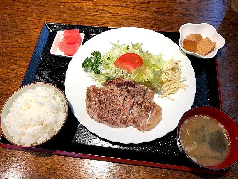 五島美豚ステーキ定食(1,300円)