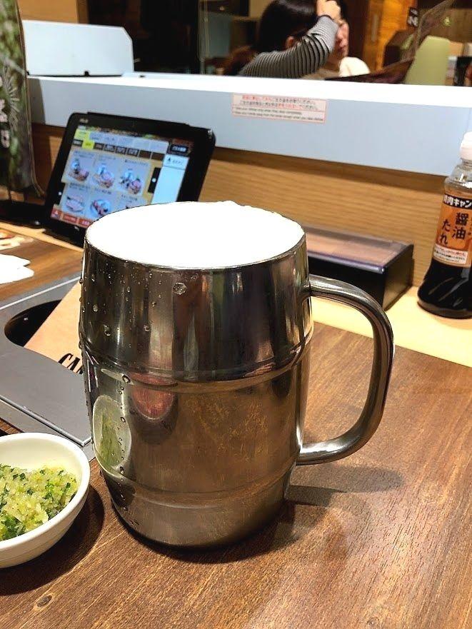 樽de乾杯!生ビール 590円(税別)