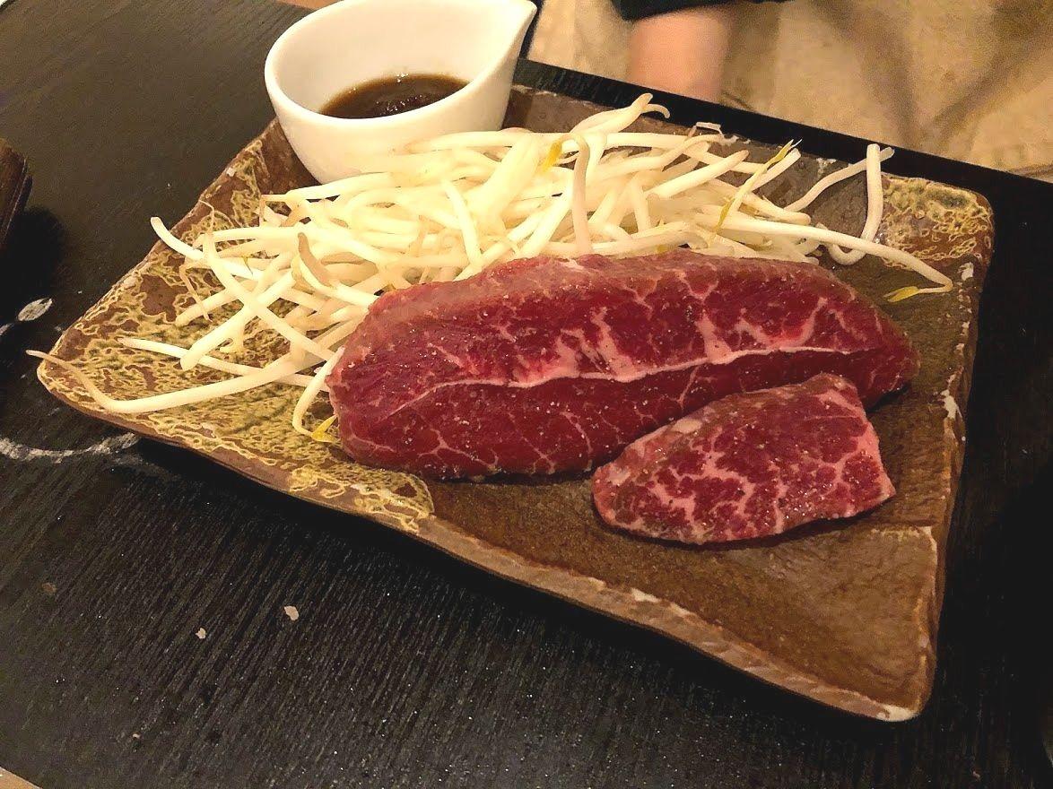 ブラックアンガス牛ミスジのステーキ