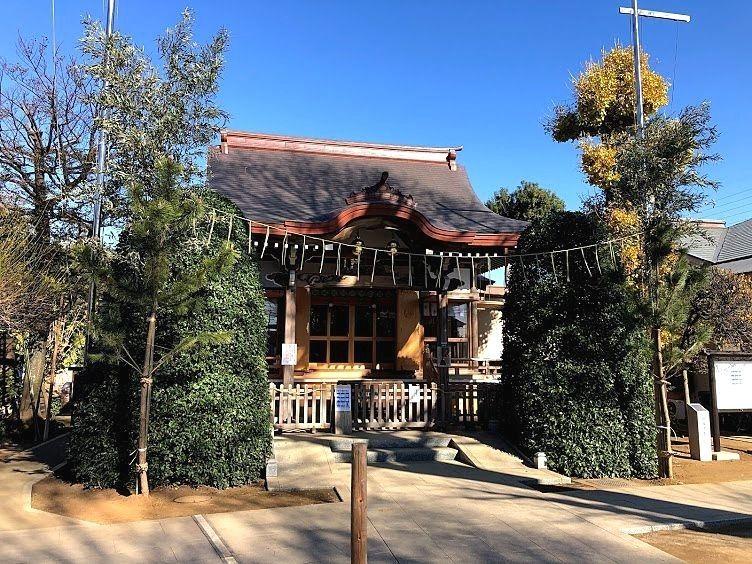 徳丸北野神社の拝殿