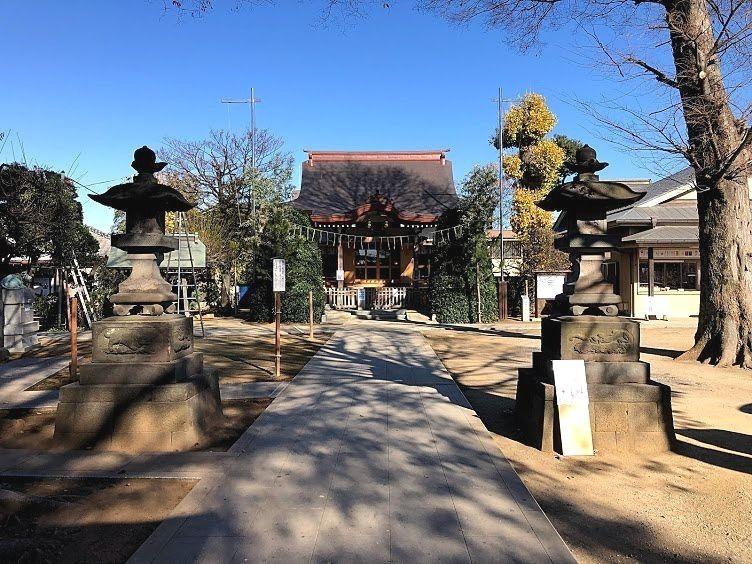 徳丸北野神社の境内