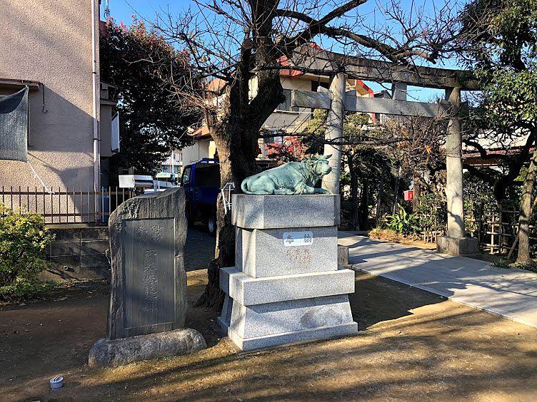 徳丸北野神社の撫で牛(なでうし)