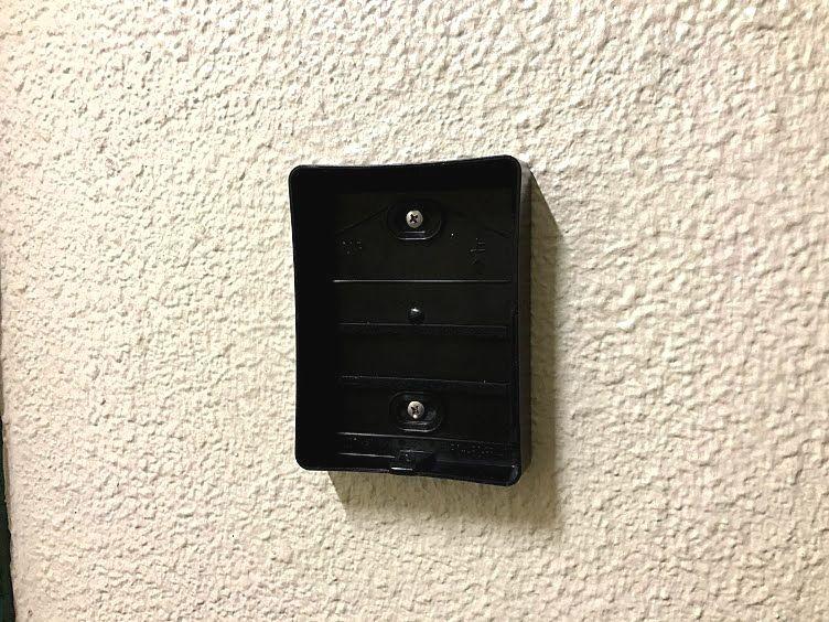 ワイヤレステレビドアホンの玄関子機台座