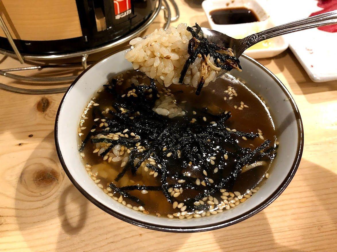 〆の逸品 タレ茶漬け 350円(税別)