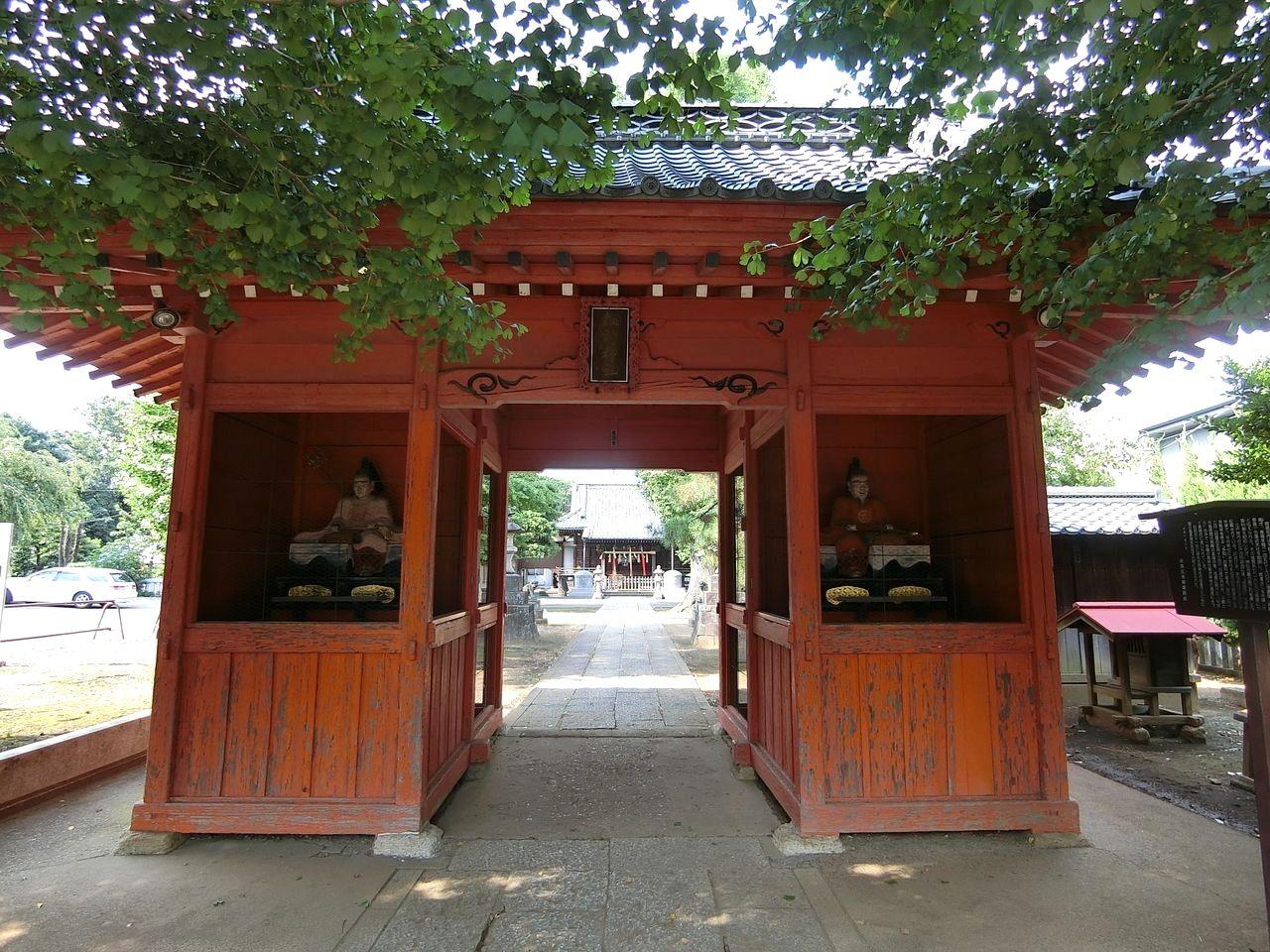 赤塚諏訪神社(板橋区大門)の随神門
