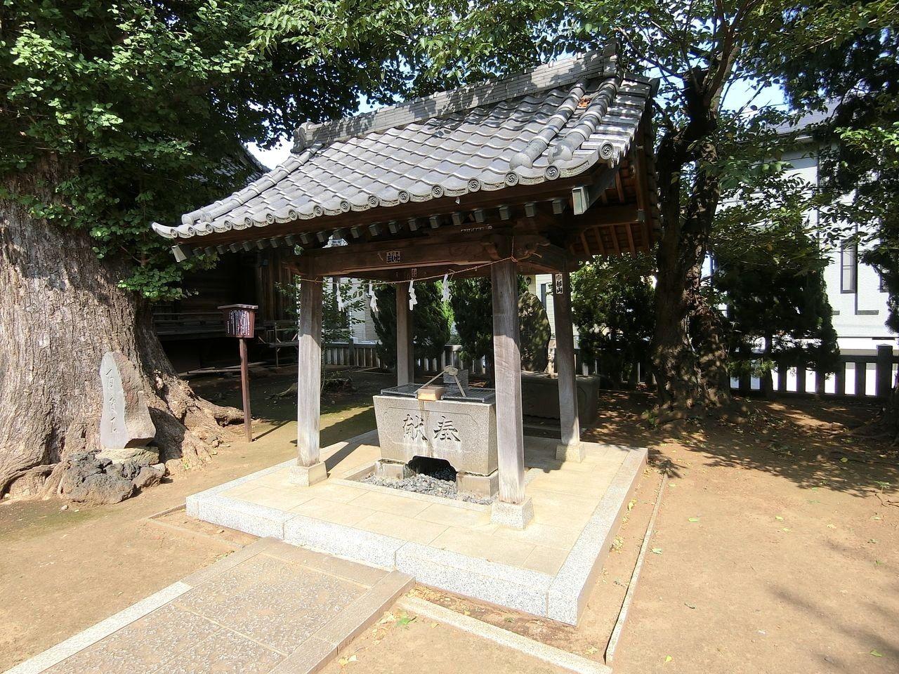 赤塚諏訪神社(板橋区大門)の手水舎