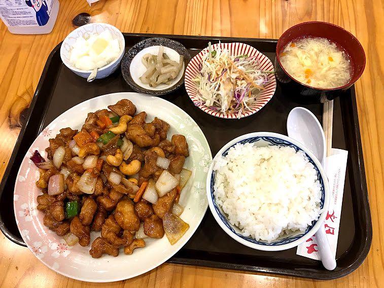鶏肉とカシューナッツ炒め定食 860円
