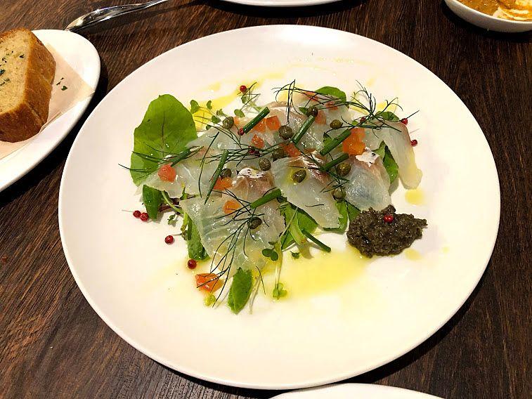 鯛のカルパッチョ(オレンジ風味)
