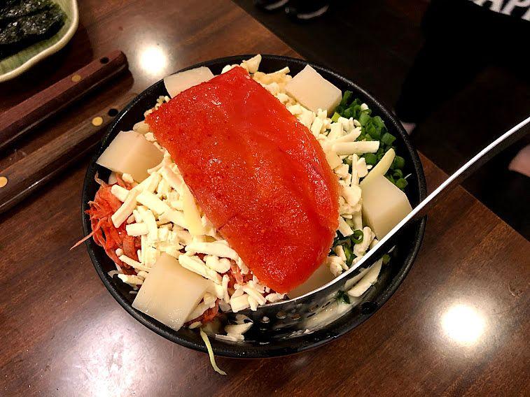 明太もちチーズ天(お好み焼き) 900円