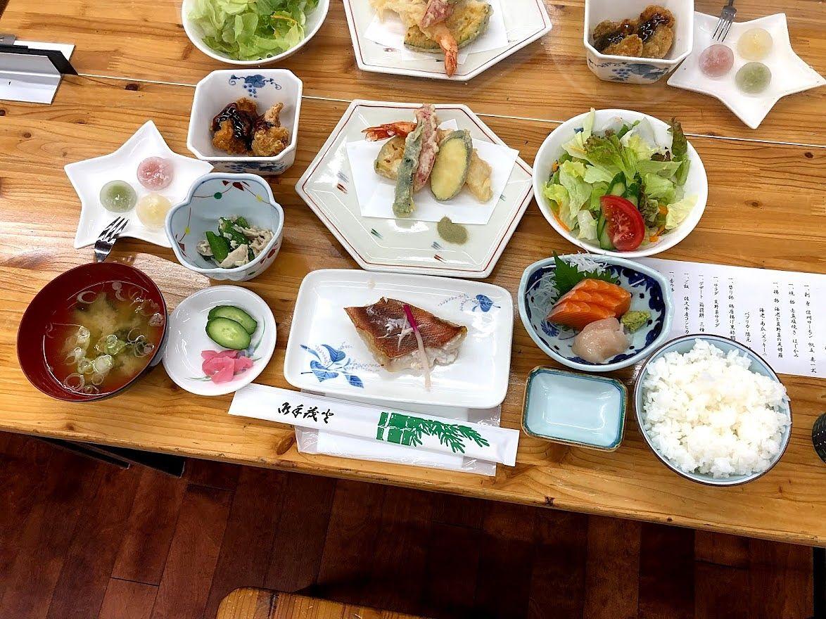 板橋区立八ヶ岳荘の夕食