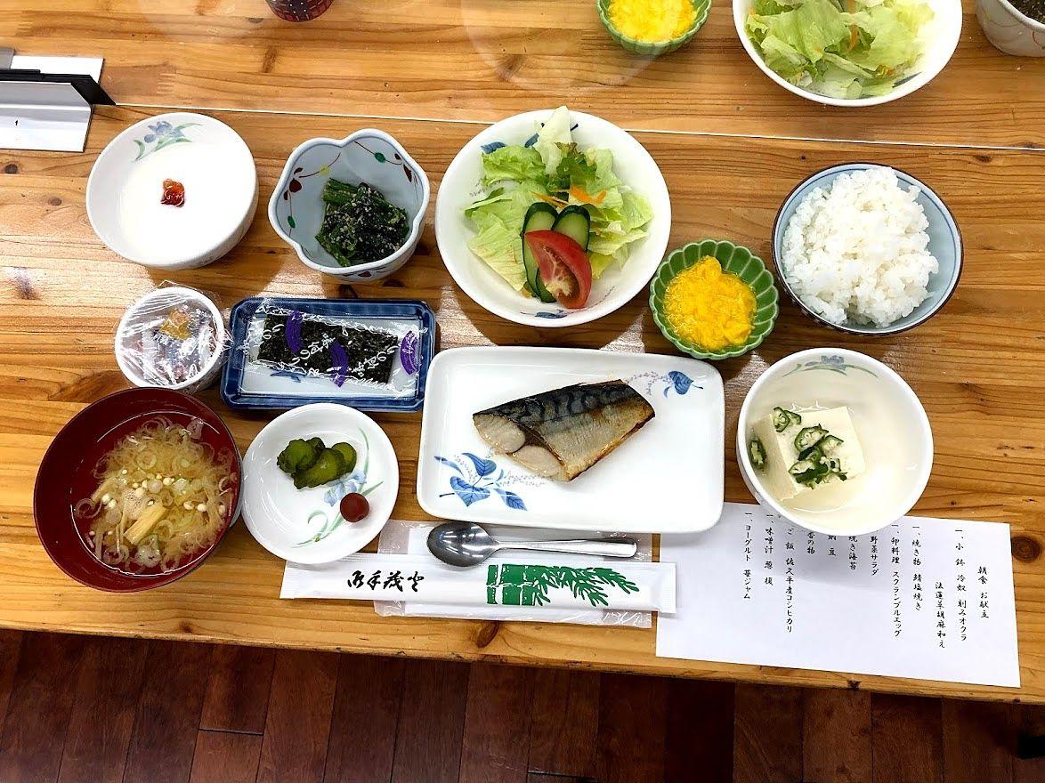 板橋区立八ヶ岳荘の朝食