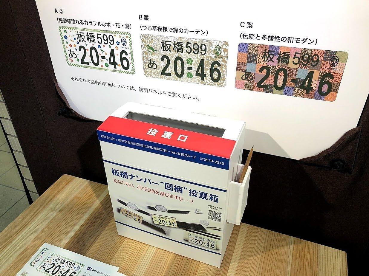 板橋ナンバープレートのデザイン投票
