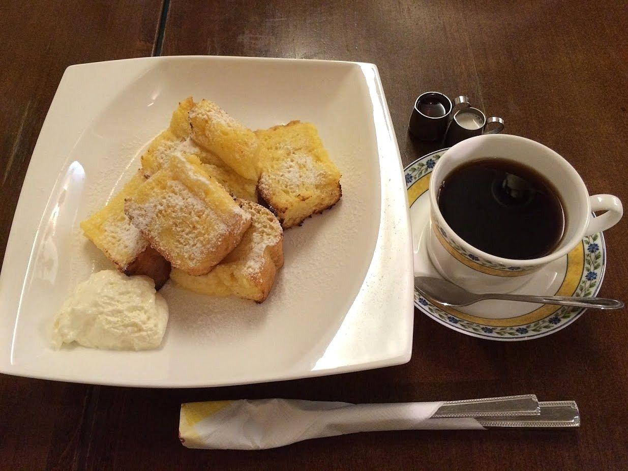 フレンチトースト&ホットコーヒー