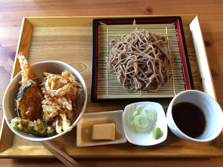 海老天丼&蕎麦定食 950円