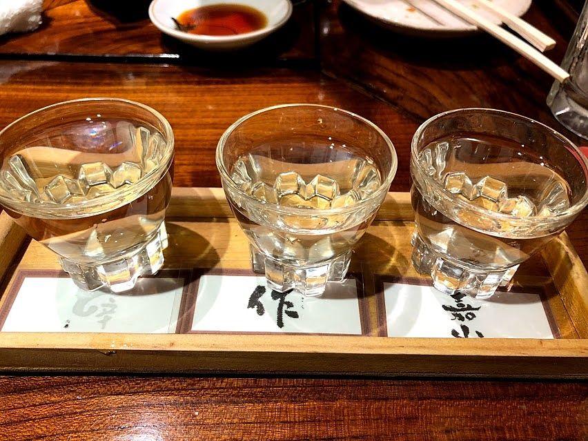 日本酒飲み比べセット 900円