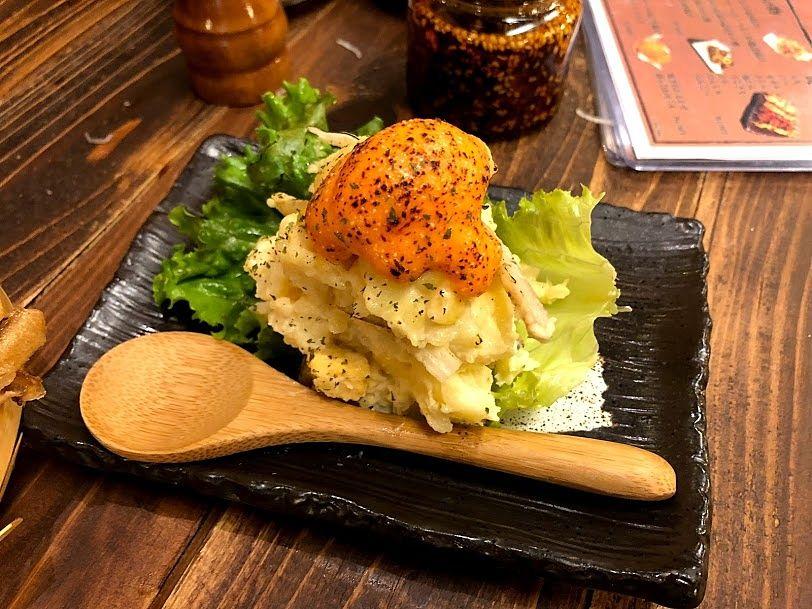 ゴロッと明太チーズポテサラ