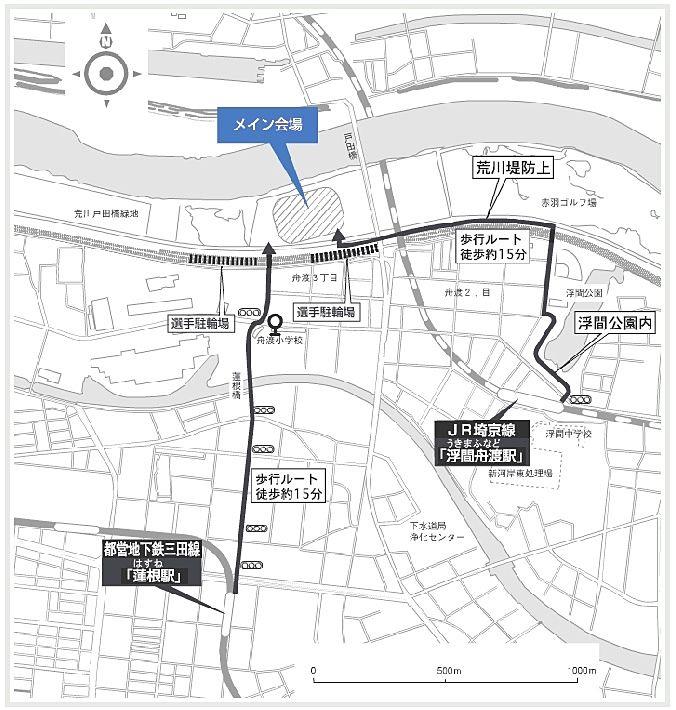 2019板橋CITYマラソン メイン会場へのアクセス