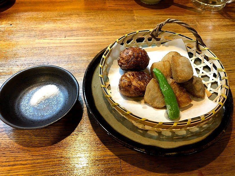 栗と里芋の素揚げ(秋限定)