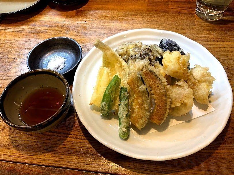 天ぷら盛り合わせ8品